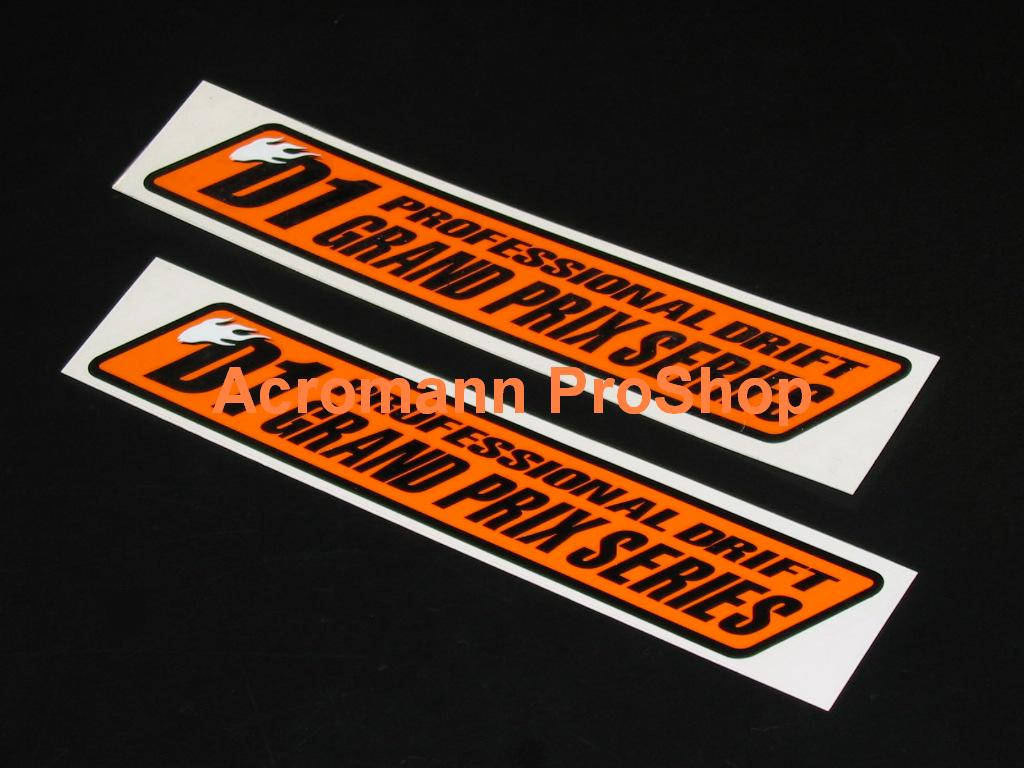 D1 Grand Prix D1GP 6inch Decal (Style#1) x 2 pcs